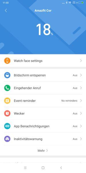Huami Amazfit Cor Fitness Tracker Mi Fit App