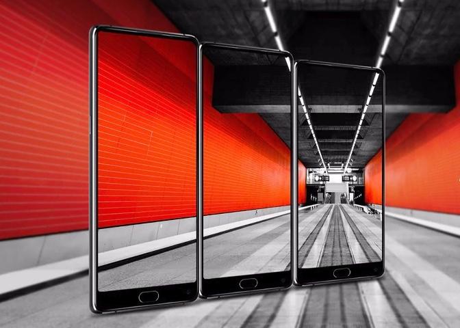 Produktbild des Koolnee K1 Trio Smartphones mit transparentem Display