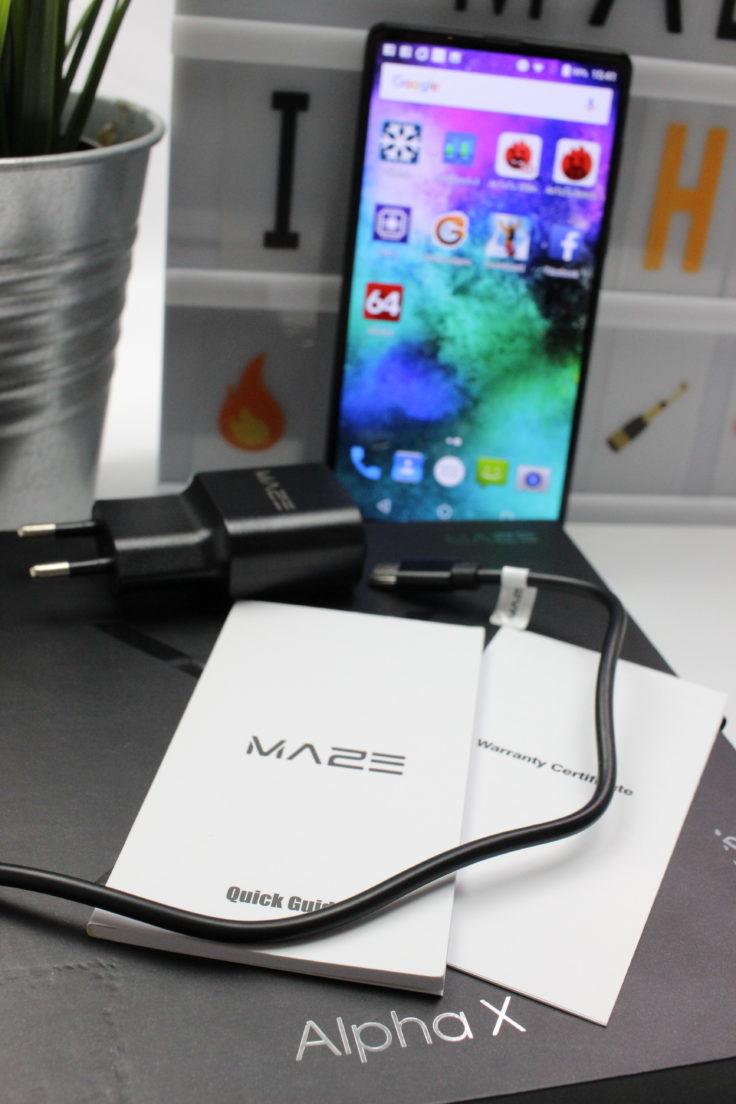 MAZE Alpha X Smartphone Lieferumfang