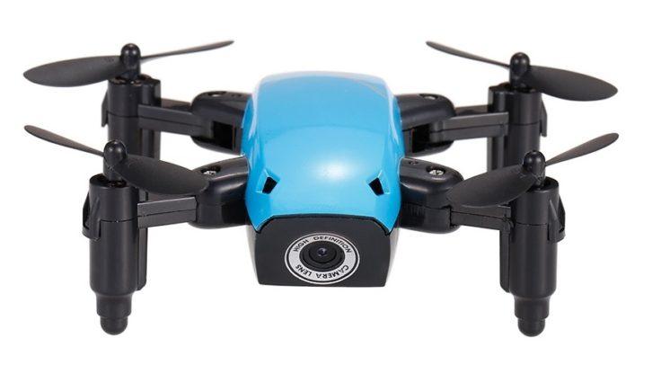 Mini Drohne H9W Mini Spark ausgeklappt