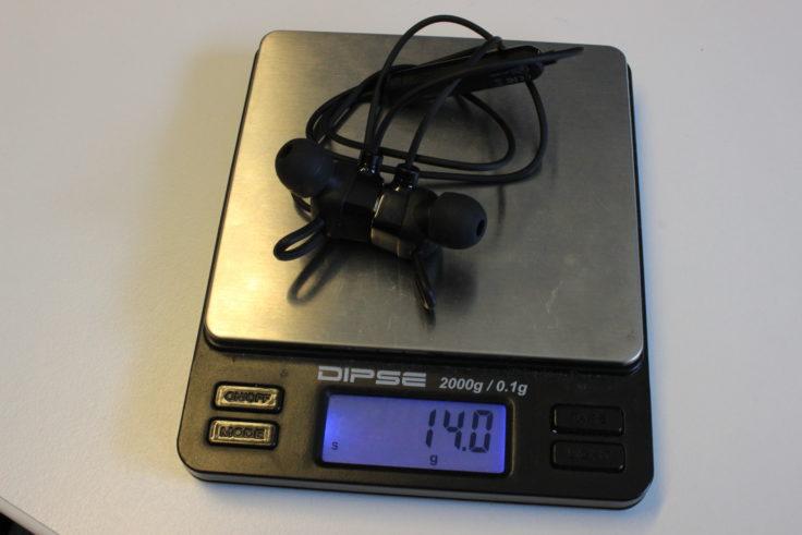 Mpow S3 Gewicht mit Ohrpolstern und Ohrhaken in der mittleren Größe