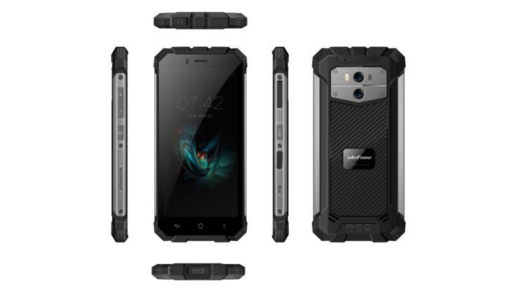 Front- und Rückseite des Ulefone Armor X Smartphones