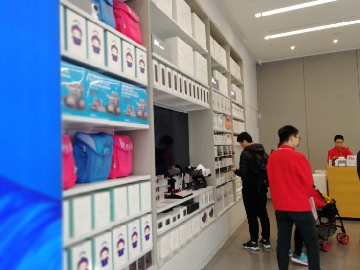 Xiaomi Flagship Store Shenzhen Produktregal Mitu Roboter