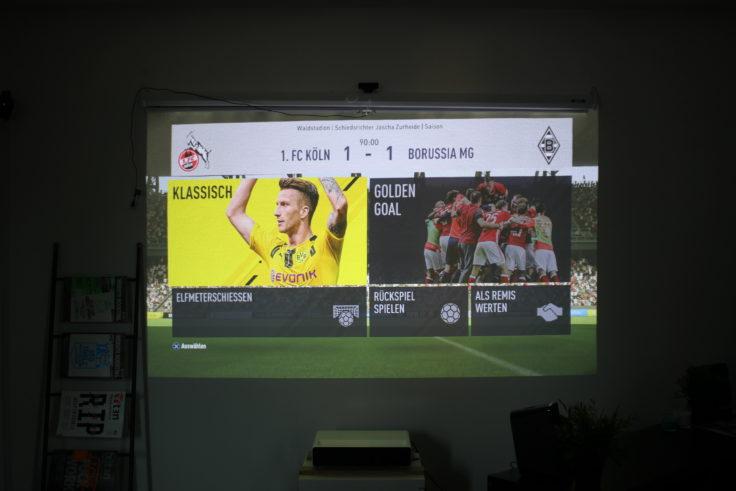 Xiaomi Kurzdistanzbeamer Laser Projector Test Fifa 17 Menü
