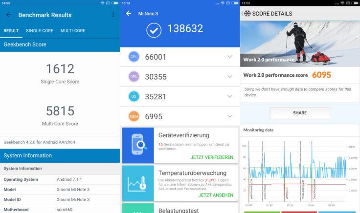 Xiaomi Mi Note 3 Benchmarks Screenshot