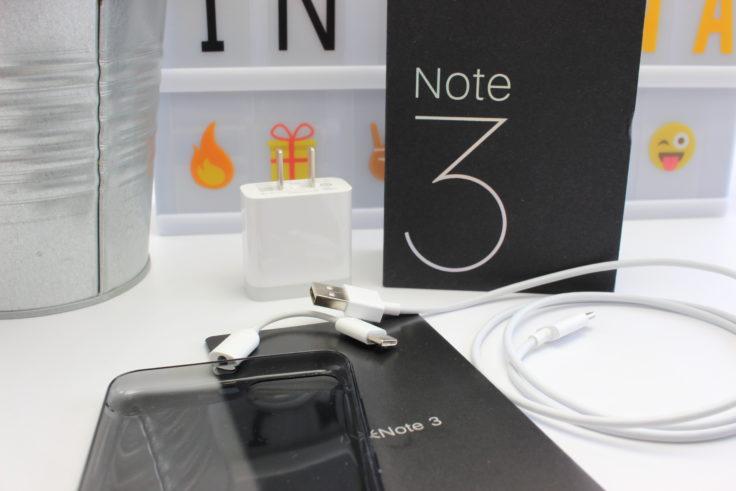 Der Lieferumfang des Xiaomi Mi Note 3 Smartphones