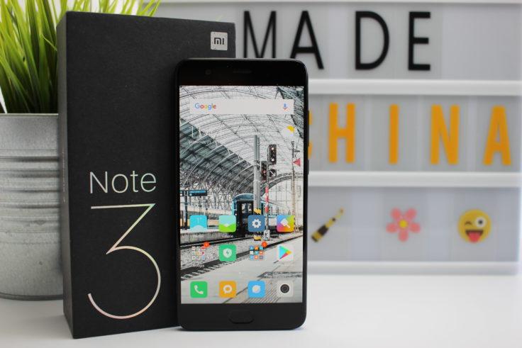 Das Display des Xiaomi Mi Note 3