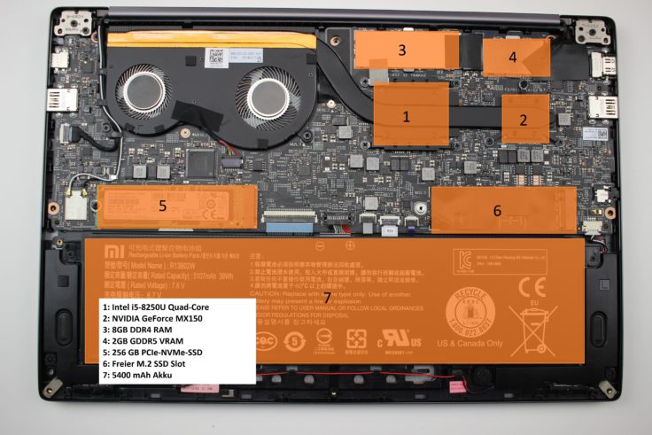 Xiaomi Mi Notebook Air 2018 Hardware Mainboard