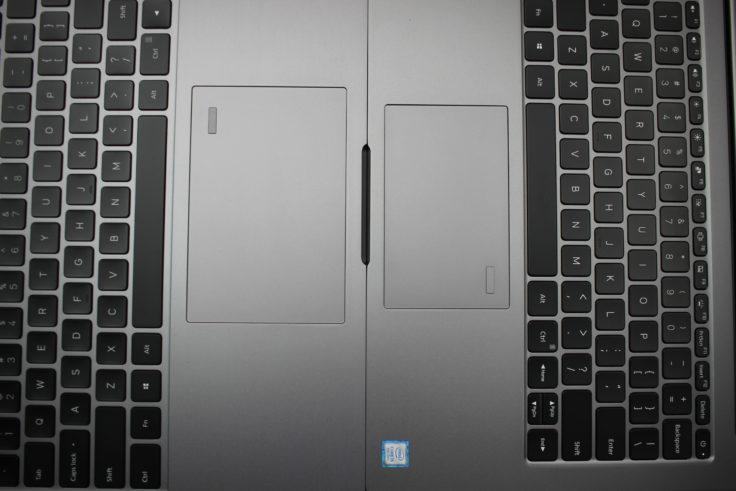 Xiaomi Mi Notebook Air Touchpad im Vergleich zu Xiaomi Mi Notebook Pro