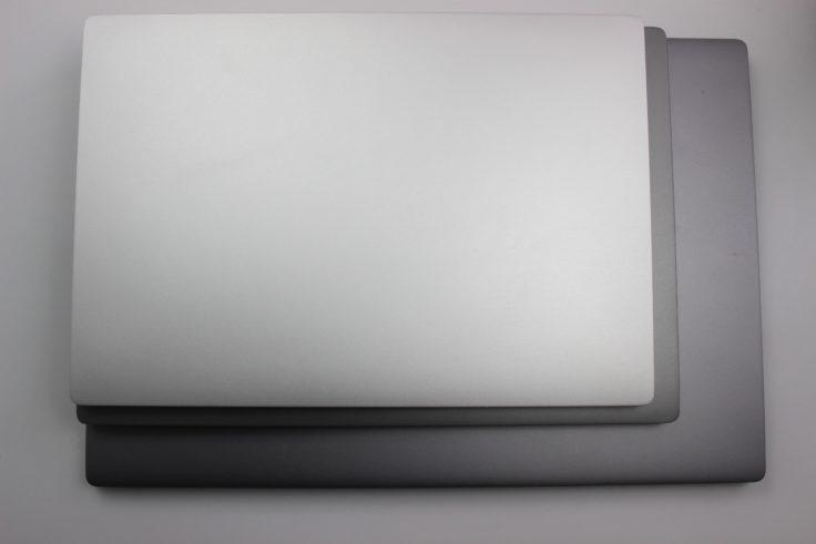 Xiaomi Mi Notebook Air alle größen im Vergleich