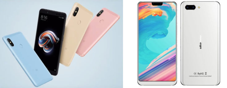 Xiaomi Redmi Note 5 Pro & Ulefone T2 Pro