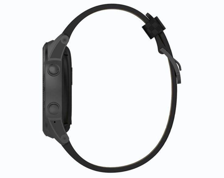 Seitenansicht der AllCall W1 Smartwatch