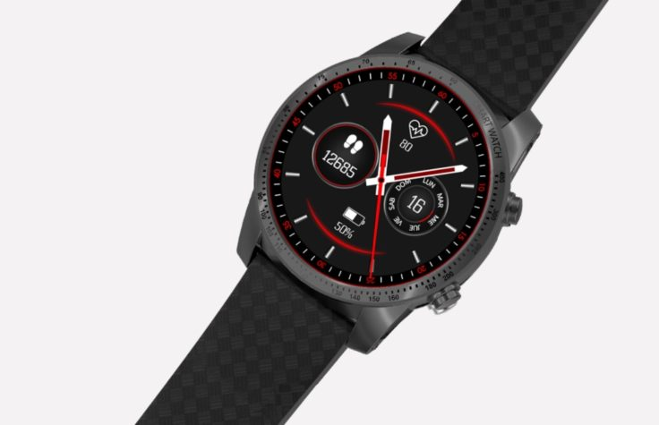 AllCall W1 Smartwatch mit Lederband