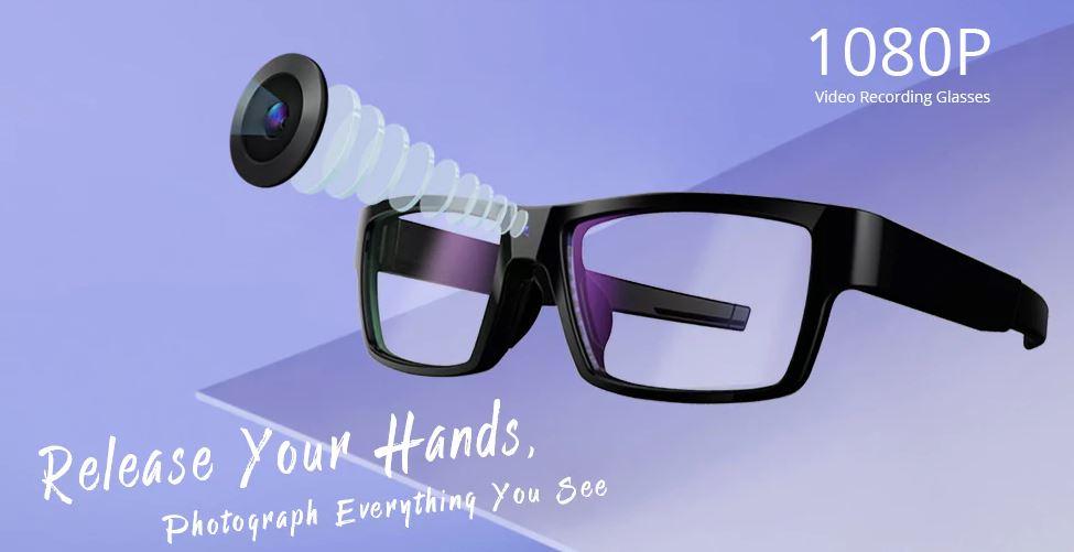G2 HD-Brille mit integrierter Kamera für Videos und Fotos