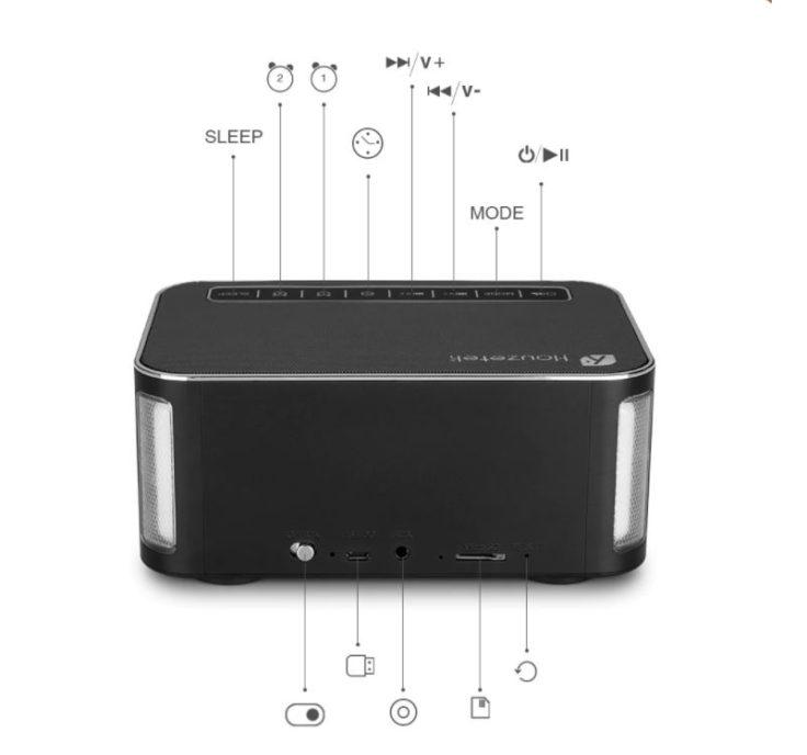 Houzetek DY32L Touch-Knöpfe und Anschlüsse