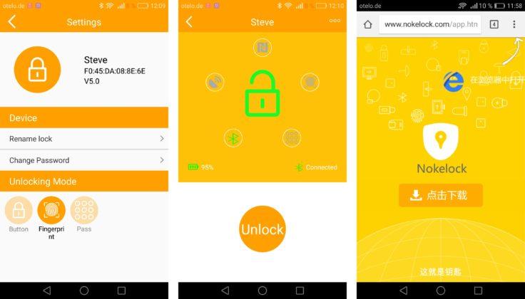 Nokelock App Bluetooth Vorhängeschloss