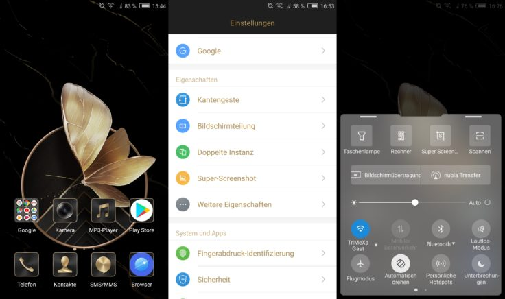 Nubia Z17 Lite Software