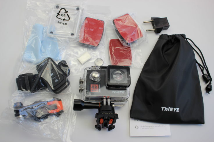 ThiEYE T5 Edge Actioncam Lieferumfang