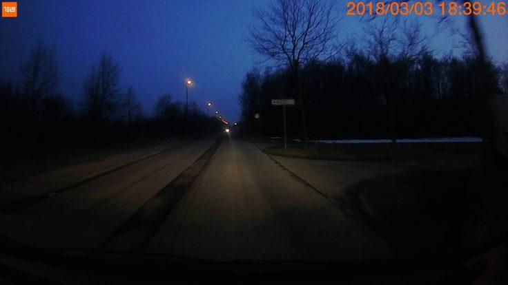 Xiaomi 70 Minutes Dashcam Foto Fahrt Nacht
