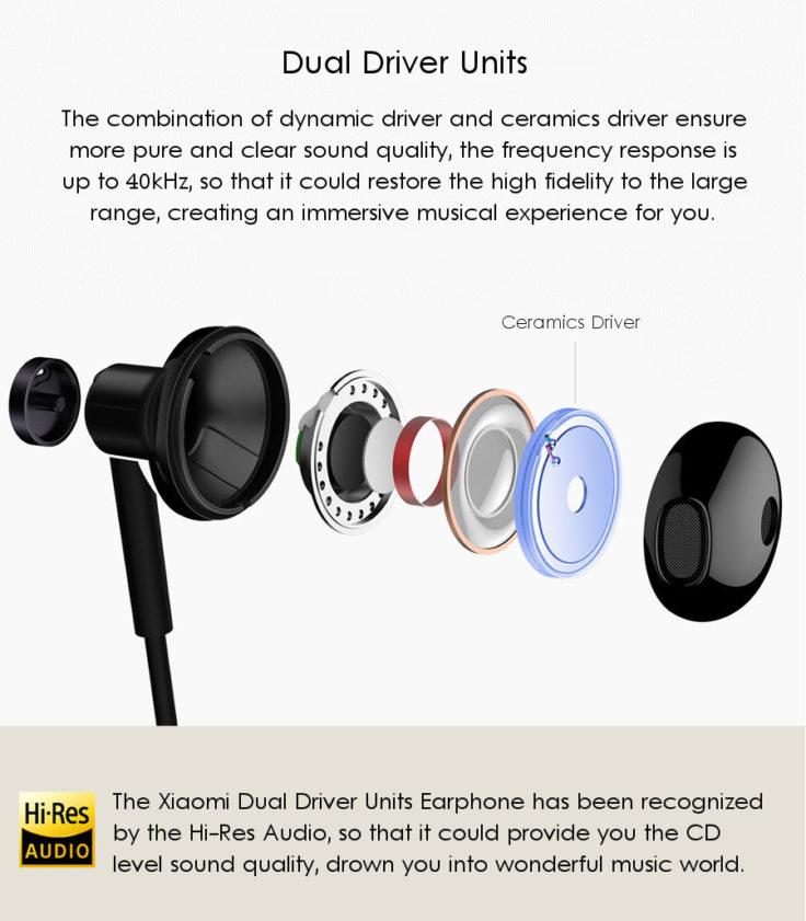 Xiaomi Hybrid Kopfhörer mit Keramiktreiber Hi Res