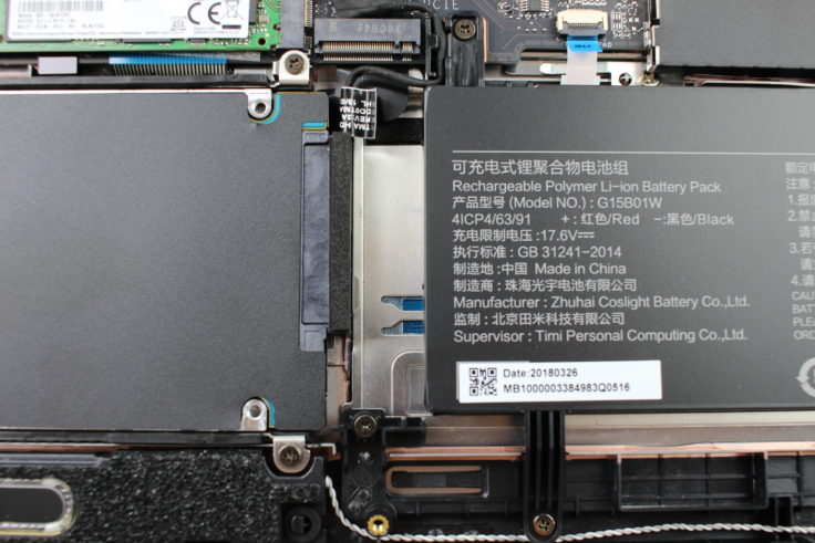 Xiaomi Mi Gaming Notebook Hardware zweite SSD