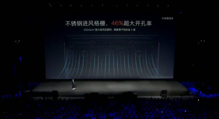 Xiaomi Mi Gaming Notebook Kühlungsfläche auf der Unterseite