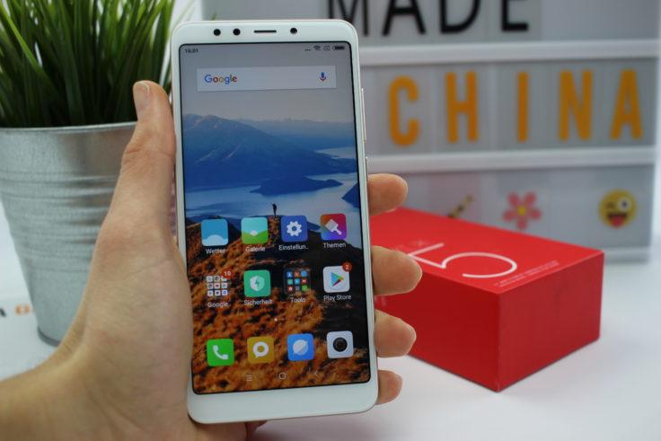 Xiaomi Redmi 5 Smartphone in Hand