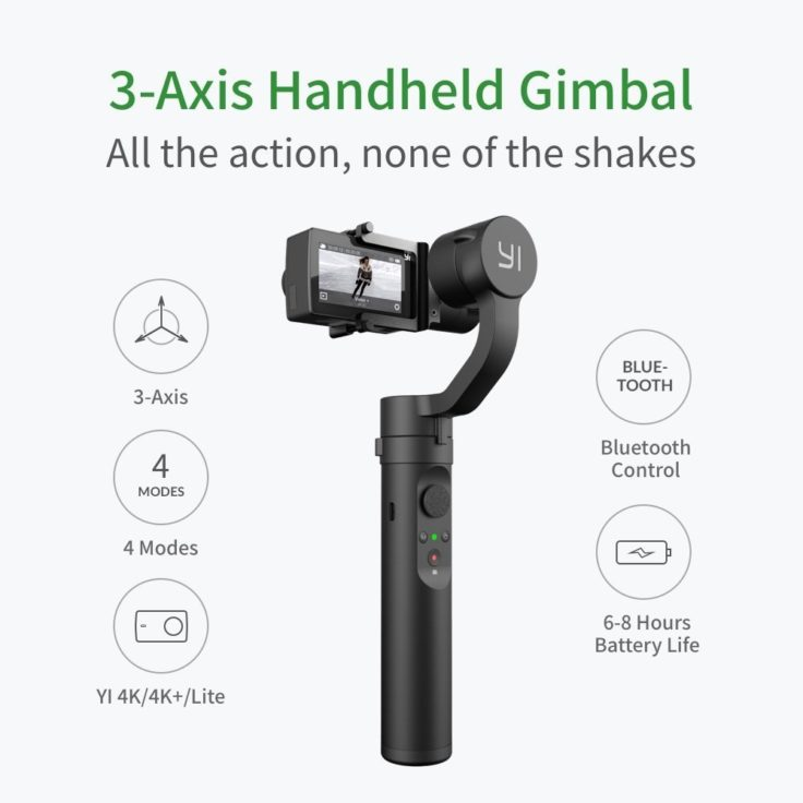 YI Action Gimbal verschiedene Action Cams