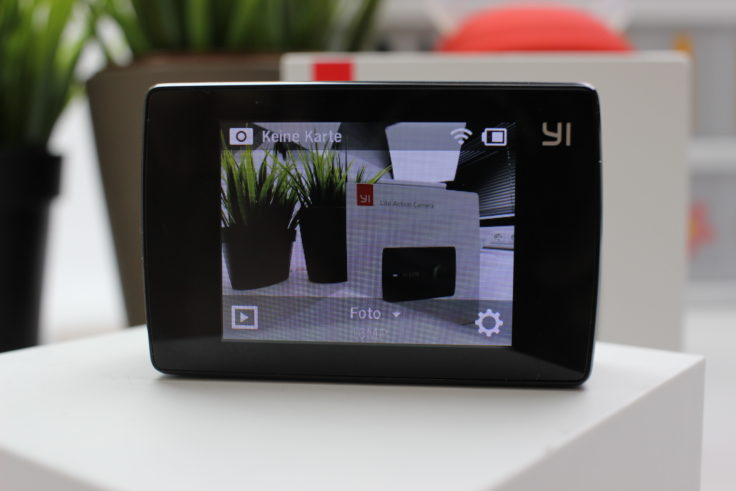 YI Lite Action Cam Display