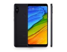 Xiaomi Redmi Note 5 Schwarz Front und Rueckansicht