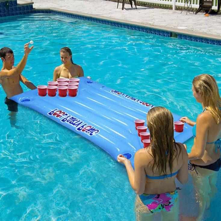 Bierpong Spiel aufblasbar für Swimming Pool