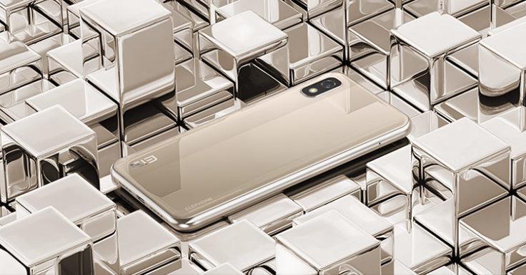 Elephone A4 Gold Rueckseite