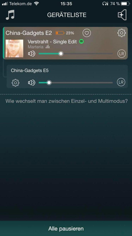 GGMM E2 Speaker App