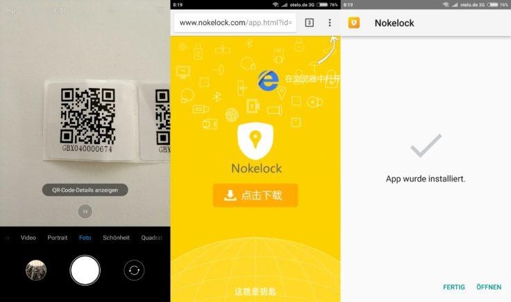 Nokelock Download der App