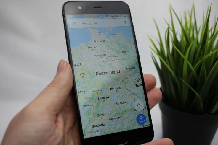 Smartphone Deutschland in Google Maps
