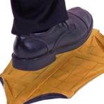 Wiederverwendbare Schuhueberzieher gelb