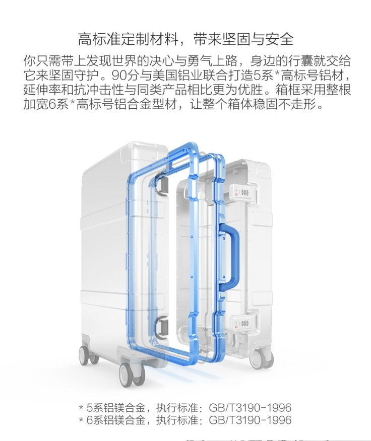 Xiaomi 90Fun 20 Zoll Metall Koffer Material