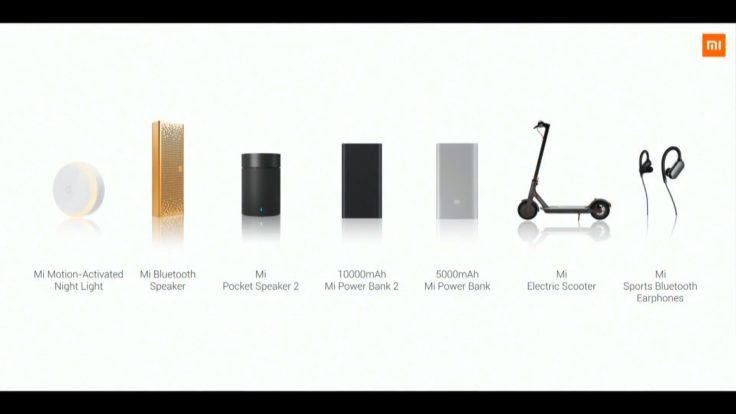 Xiaomi Eröffnung Frankreich Produkte
