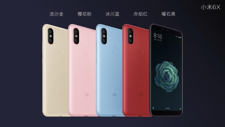 Xiaomi Mi 6X Farben