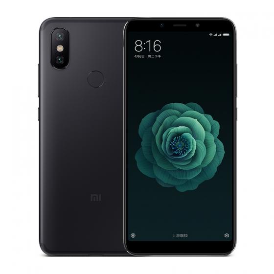 Xiaomi Mi 6X Schwarz Front und Rueckseite