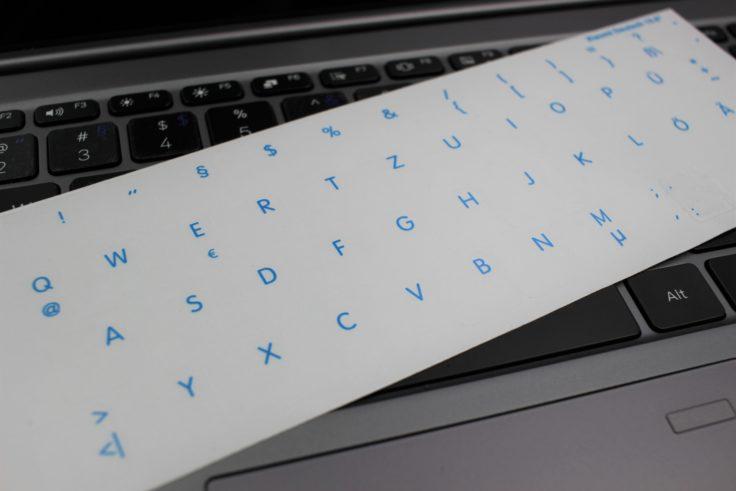 Xiaomi Mi Notebook Tastaturaufkleber