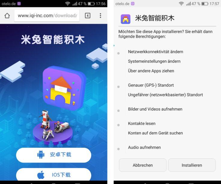 Xiaomi Mitu Lern-Set App Installation