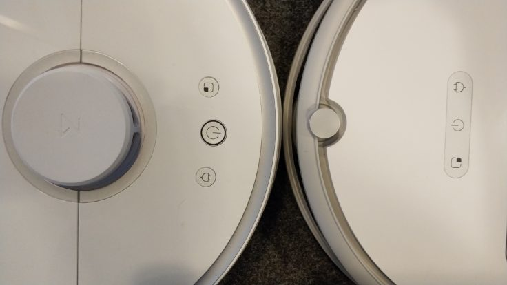 Xiaomi Saugroboter Vergleich Bedienelemente