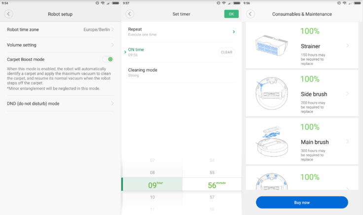 Xiaomi Xiaowa Saugroboter Mi Home App Funktionen