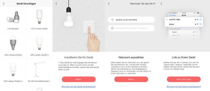 Yeelight Smart Glühbirne App Einrichtung