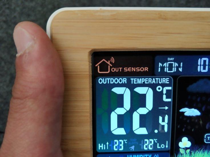 FanJu FJ3365 Wetterstation Außentemperatur Anzeige