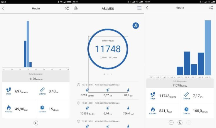 Lenovo Cardio Plus HW03X Smartband App Schrittzähler