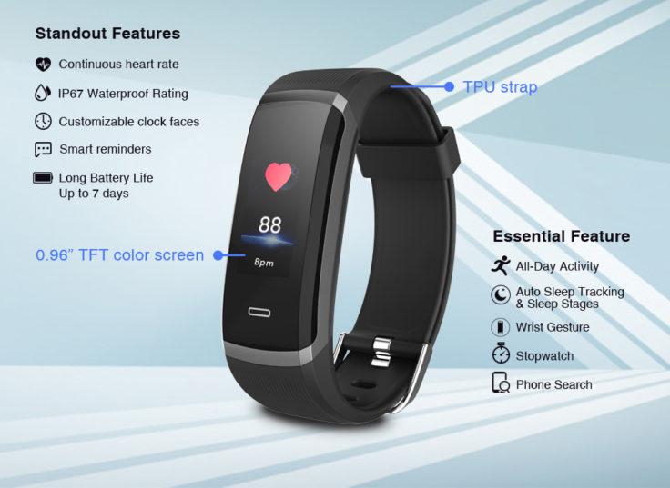 Makibes HR3 Smartband Funktionen