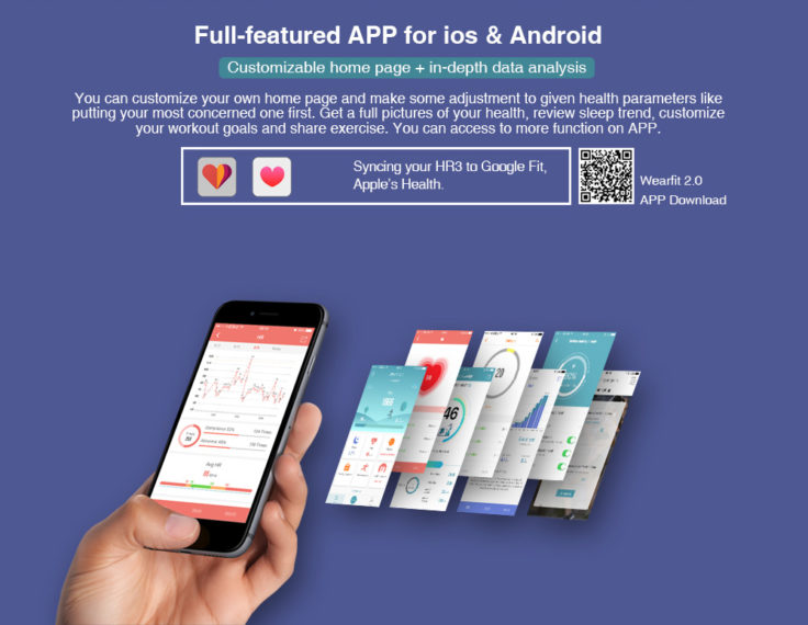 Makibes HR3 Smartband WearFit 2.0 App