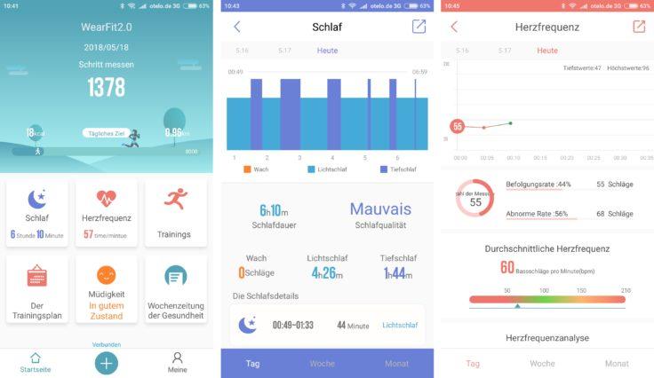 Makibes HR3 Smartband WearFit 2.0 App Screenshots